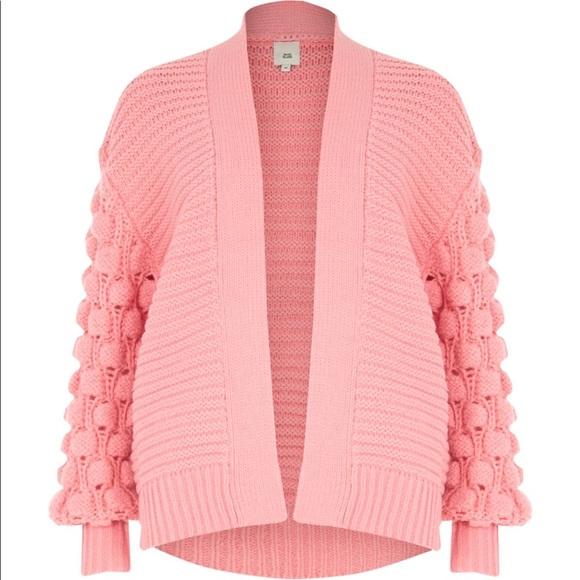 1d15fb7456f52 Light Pink Bobble knit cardigan pink XS New